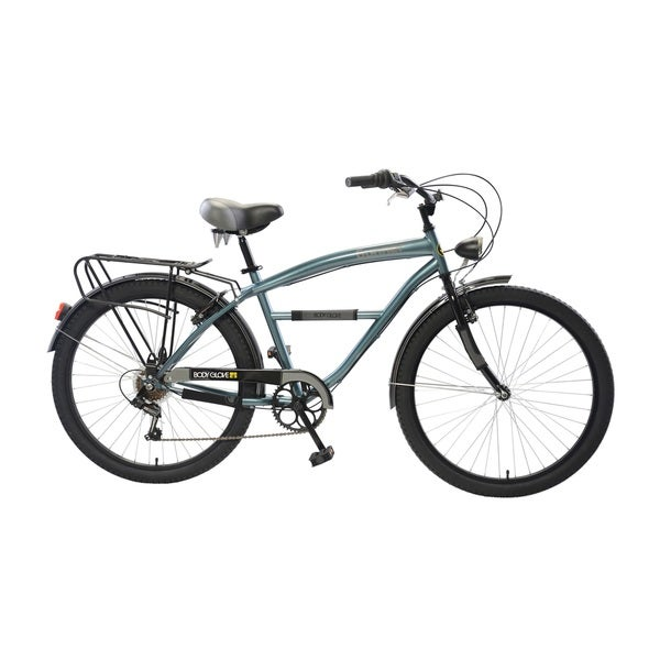 Body Glove Gunner Cruiser Bike, 26 inch wheels, oversized frame, Men's Bike, Steel Blue