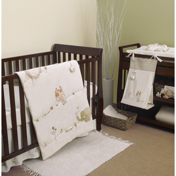 Natures Purest Sleepy Safari 4-piece Crib Bedding Set