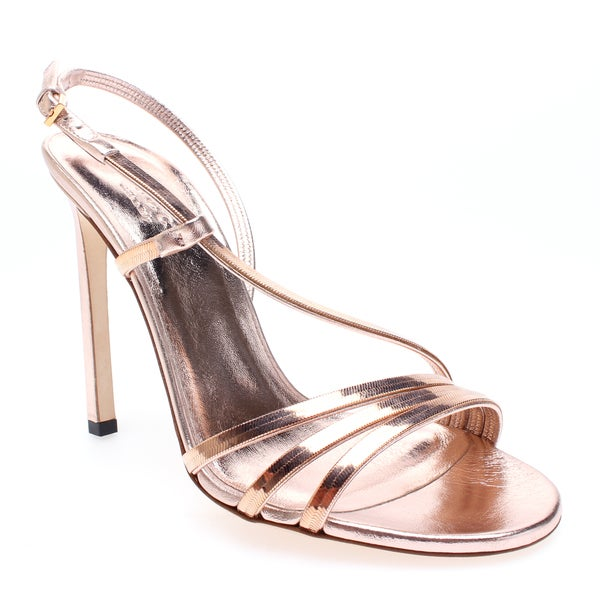 Gucci Strappy High Heel Patent Leather Sandal