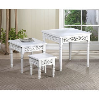 Florentine White 3 Piece Accent Tables