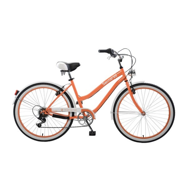 Body Glove Santorini Cruiser Bike, 26 inch wheels, oversized frame, Women's Bike, Orange
