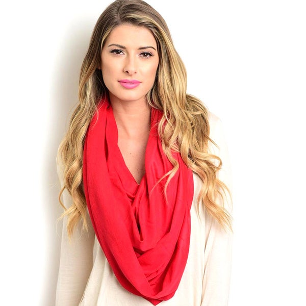 Shop the Trends Women's T-Shirt Fabric Wrap Scarf With Subtle Slub Texture