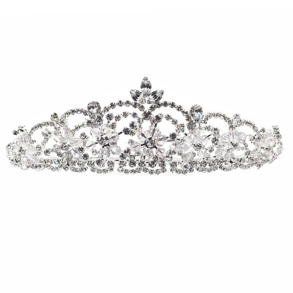 Kate Marie Rhinestone Crystal Crown Tiara Headband