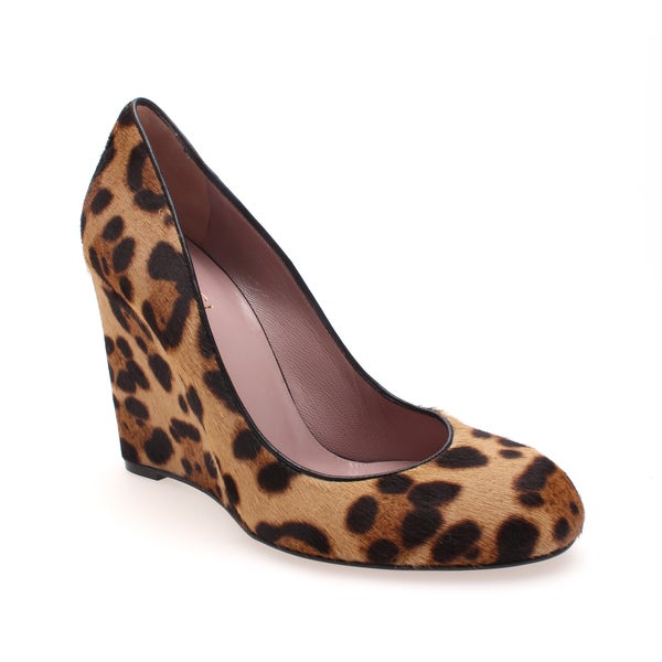 Gucci 'Charlen' Jaguar Print Wedge Pump