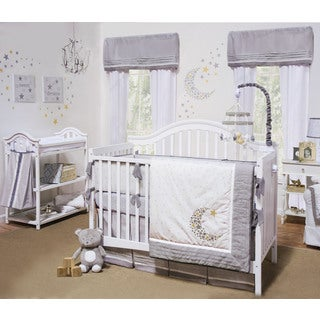 Geenny Blue Moon And Star 13 Piece Crib Bedding Set
