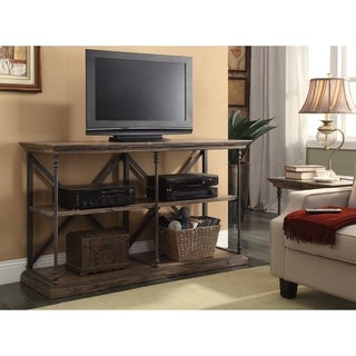 Somette Rustic Iron and Wood Media Console