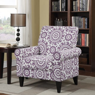 Portfolio Dana Amethyst Medallion Arm Chair