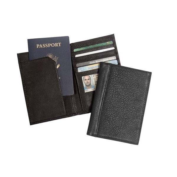 Leather RFID Security Blocking Leather Passport Wallet