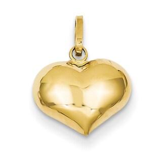 14k Yellow Gold Classic Heart Charm