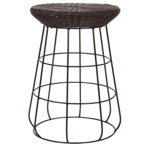 Household Essentials Resin Wicker Low Stool, Brown 17571143