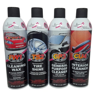 FW1 Fast Wax Waterless Car Detail Kit (Set of 4)