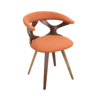 Gardenia Mid Century Modern Walnut Wood Accent Chair