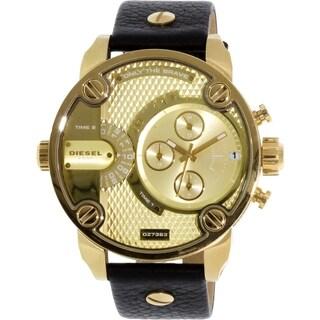 Diesel Men's Black Leather DZ7363 Quartz Watch
