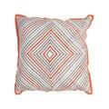Geometric Orange/Blue Cotton and 18-inch Linen Throw Pillow