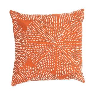 Orange Passion Cotton 18-inch Throw Pillow