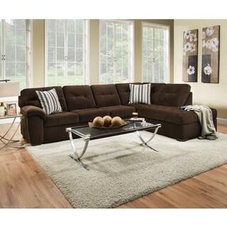 Presley Dark Brown Sectional Sofa 14955528 Overstock