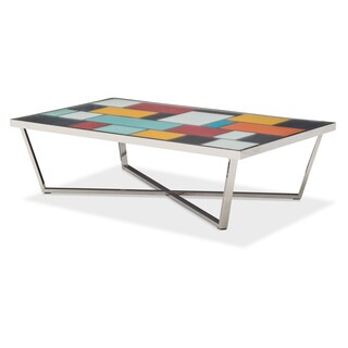Kube Rectangular Cocktail Table by Michael Amini