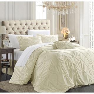 Chic Home Belvia Beige 9-Piece Bed in a Bag Comforter Set