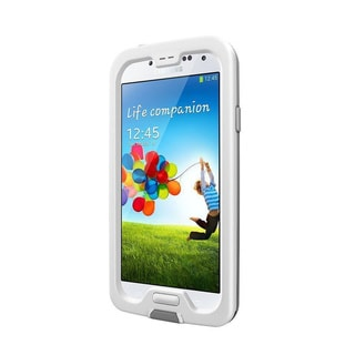 LifeProof FRE White/ Grey Waterproof Phone Case for Samsung Galaxy S4 (Retail Packaging) - Model 1802-02