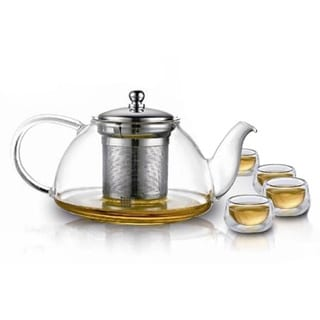 Teaology Infuso Borosilicate Infusion Teapot and Glass Set