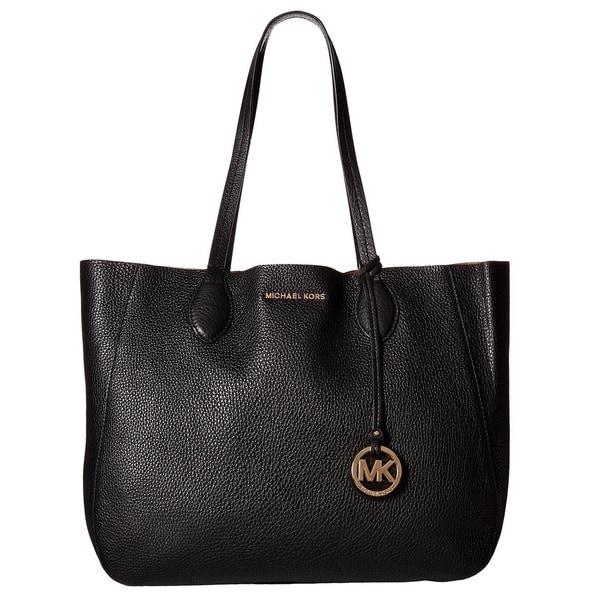 Michael Kors Mae Black Large E/W Mae Tote Handbag