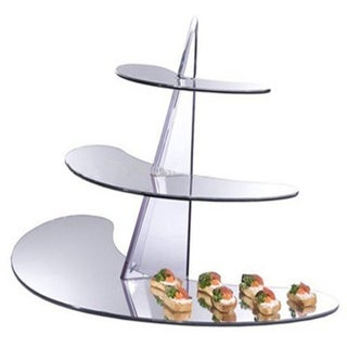 OnDisplay Acrylic Display 3 Tiered Mirrored Rack/ Stand