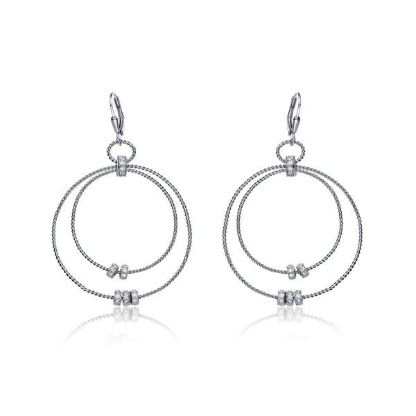 Collette Z Sterling Silver Two-Orbit Earrings