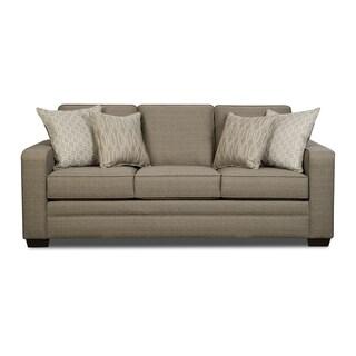 Simmons Upholstery Seguin Pewter Queen Sleeper Sofa