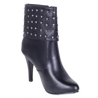 Women's Studded Cuff Fashion Boots