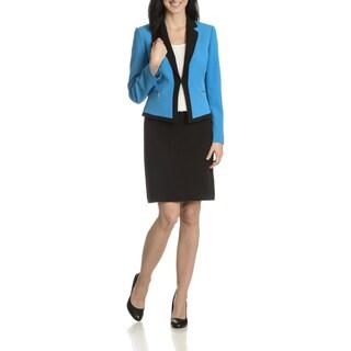 Tahari Arthur S. Levine Women's Colorblock 2-Piece Skirt Suit
