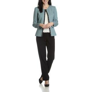Tahari Arthur S. Levine Women's Boucle 2-Piece Pant Suit