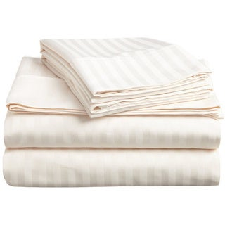 Vivendi 500 Thread Count Supima Cotton Damask Stripe Sheet Set