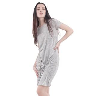 Bluberry Women's Grey Dress with Knot