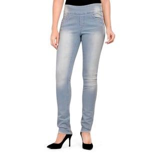 Bluberry Women's Stripe Slim Leg Denim