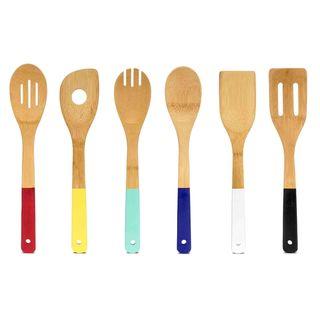 Home Basics 6 pc Bamboo Kitchen Utensil/ Tools Set