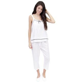 La Cera Women's Sleeveless Pajama Set