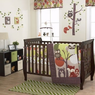 Belle Foxy And Friends 3-piece Crib Bedding Set