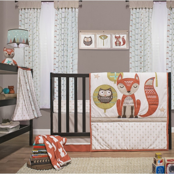 Little Haven Clever Fox 4-piece Crib Bedding Set