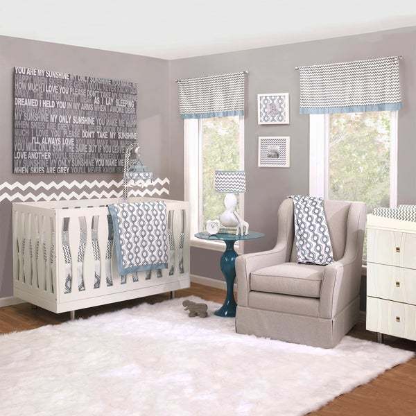 Petit Nest Henri 4-piece Boy Crib Bedding Set