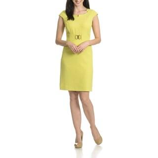 Tahari Arthur S. Levine Women's Faux Belted Sheath Dress