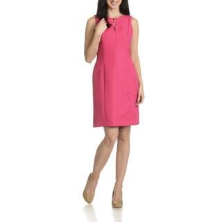 Tahari Arthur S. Levine Women's Tonal Textured Pattern Dress