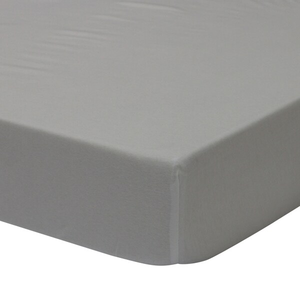 Petit Nest Sydney Solid Grey Jersey Fitted Crib Sheet