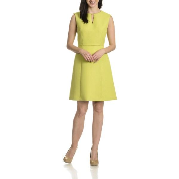 Tahari Arthur S. Levine Women's Tonal Check Pattern Dress