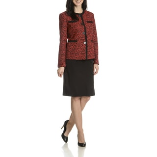 Danillo Women's Animal Print 2 piece Skirt Suit