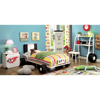 Furniture of America Jimmie White Metal 5-piece Racing Twin-size Bedroom Set