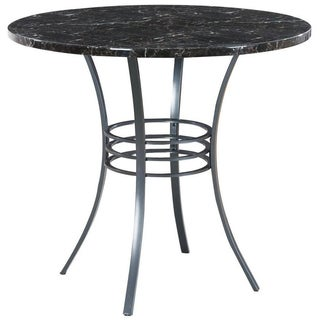 Black Metal 40-inch Round Counter Height Table