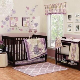 The Peanut Shell Dahlia 4-piece Girl Crib Bedding Set