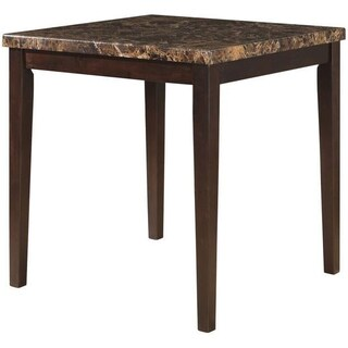 Brown Wood Square Counter Height Table