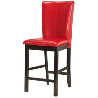 Red Wood Bar Stool (Set of 2)