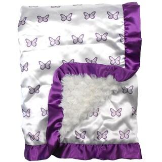 Petit Tresor Papillon Satin Blanket